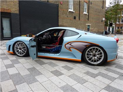 f430 race car gulf blue